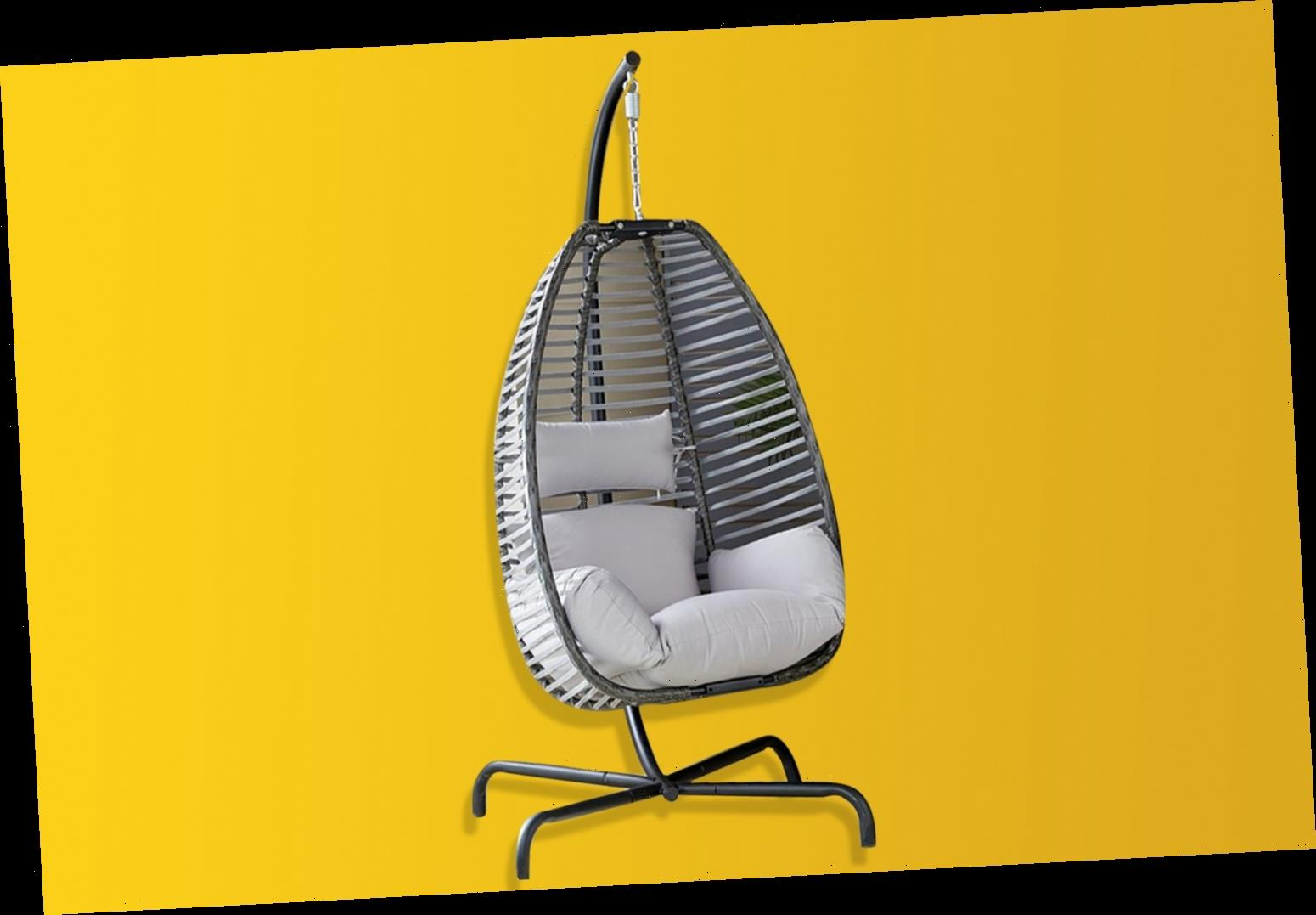 Studio is selling a hanging egg chair for £190